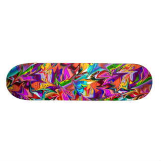 Trippy Psychedelic Multicolor Swirls Skate Deck