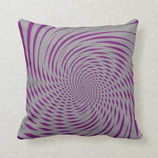 Trippy Psychedelic Swirly Two tone Purple Grey Mix Cushion