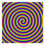 trippy rainbow coil poster