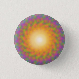 Trippy Rainbow Sunburst 3 Cm Round Badge