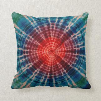 Trippy Red Tie Dye American MoJo Pillow