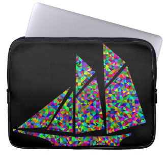 Trippy Sailing Boat Computer Sleeve