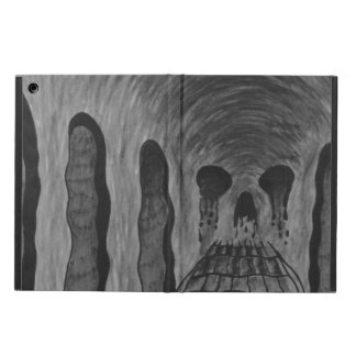 Trippy skull iPad air cases