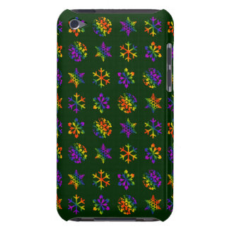 Trippy Snowflakes Barely There iPod Cases