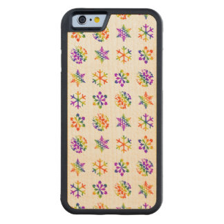 Trippy Snowflakes Carved Maple iPhone 6 Bumper Case