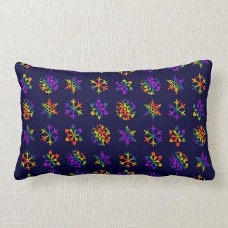 Trippy Snowflakes Lumbar Cushion