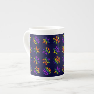 Trippy Snowflakes Tea Cup