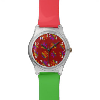 Trippy Snowflakes Wristwatches