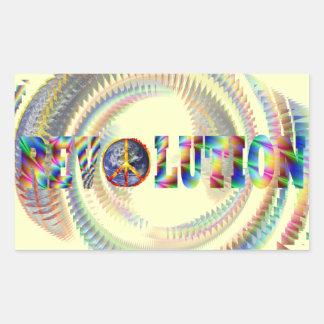 Trippy Spiral Revolution Stickers