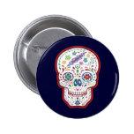 Trippy Sugar Skull Pinback Buttons