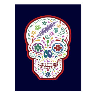 Trippy Sugar Skull Postcard