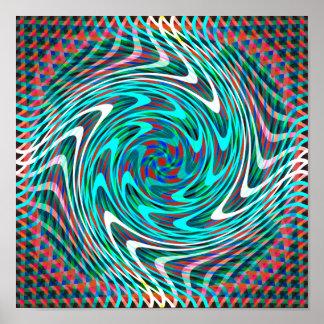 Trippy Swirl Tunnel Poster