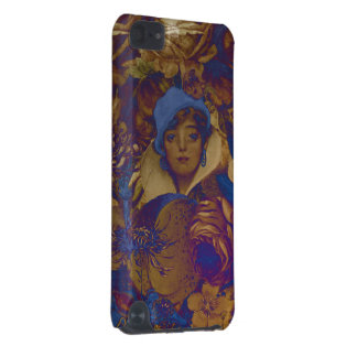 Trippy Vintage Woman Flowers iPod Touch (5th Generation) Cases