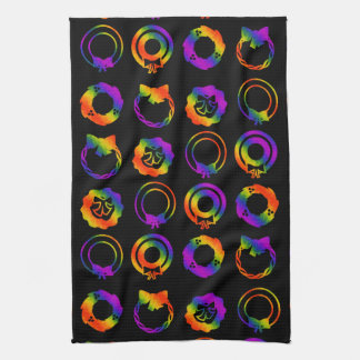 Trippy Wreaths Tea Towel