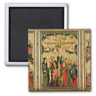 Triptych depicting the Crucifixion of Christ Magnets