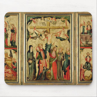 Triptych depicting the Crucifixion of Christ Mouse Pad