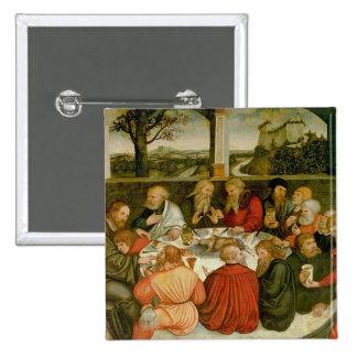 Triptych, left panel, Philipp Melanchthon 15 Cm Square Badge