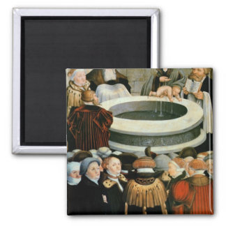 Triptych, left panel, Philipp Melanchthon Square Magnet