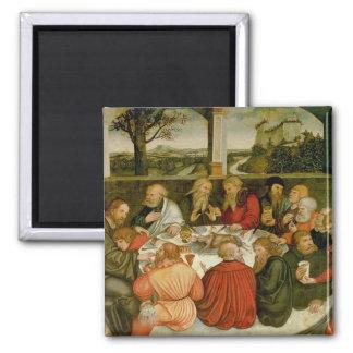 Triptych, left panel, Philipp Melanchthon Square Magnet