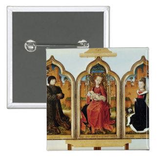 Triptych of Jean de Witte, 1473 15 Cm Square Badge