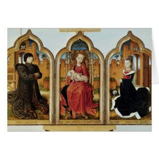Triptych of Jean de Witte, 1473 Greeting Card