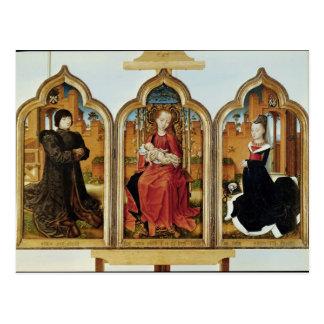 Triptych of Jean de Witte, 1473 Postcard