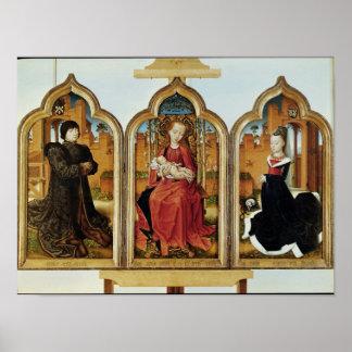 Triptych of Jean de Witte, 1473 Poster