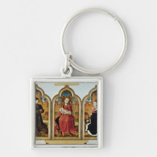 Triptych of Jean de Witte, 1473 Silver-Colored Square Key Ring