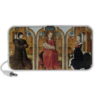 Triptych of Jean de Witte, 1473 iPhone Speakers