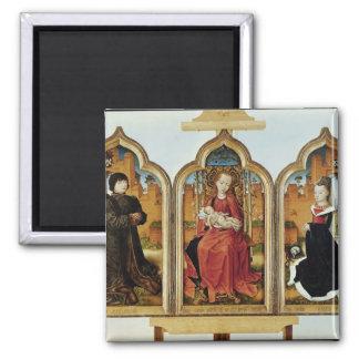 Triptych of Jean de Witte, 1473 Square Magnet