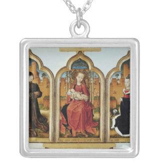 Triptych of Jean de Witte, 1473 Square Pendant Necklace