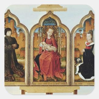Triptych of Jean de Witte, 1473 Square Sticker