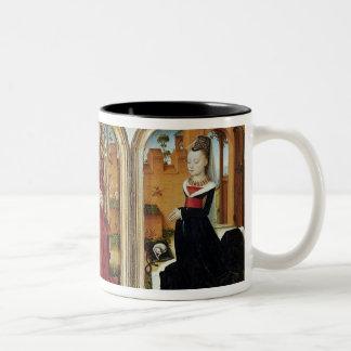 Triptych of Jean de Witte, 1473 Two-Tone Coffee Mug