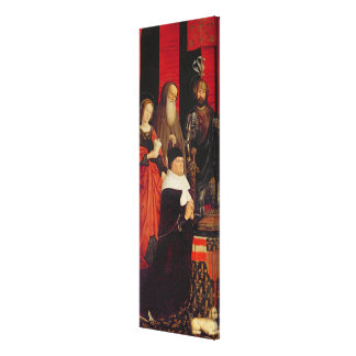 Triptych of Moses and the Burning Bush Canvas Print
