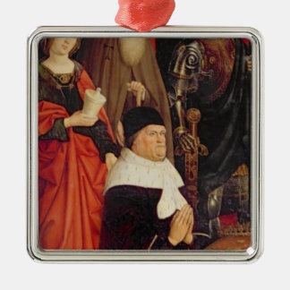 Triptych of Moses and the Burning Bush Christmas Ornament