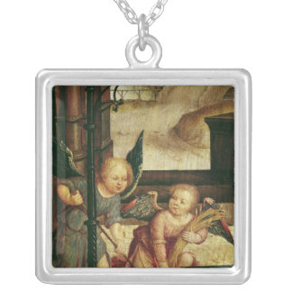 Triptych of the Adoration of the Child Silver Plated Necklace