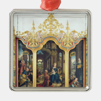 Triptych of the Adoration of the Infant Christ Christmas Ornament