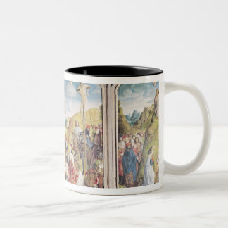 Triptych of the Crucifixion Two-Tone Coffee Mug