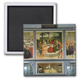 Triptych Square Magnet