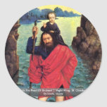 Triptych The Pearl Of Brabant Classic Round Sticker