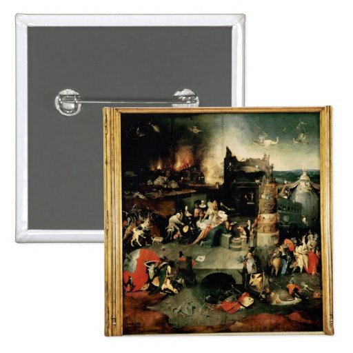 Triptych: The Temptation of St. Anthony Pinback Buttons