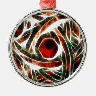 Triquatra multi-coloured Silver-Colored round decoration