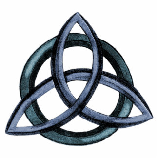Triquetra (Blue) Acrylic Pin Photo Sculpture Badge