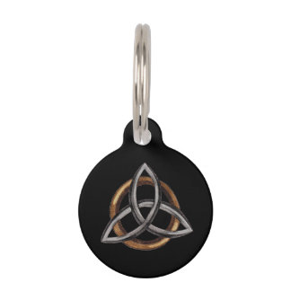 Triquetra (Brown/Silver) Pet Tags