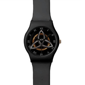 Triquetra (Brown/Silver) Wrist Watches