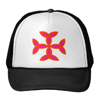 Triquetra Cross in Bright Red Hot Pink Cap