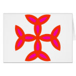 Triquetra Cross in Bright Red Hot Pink Card