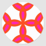 Triquetra Cross in Bright Red Hot Pink Stickers