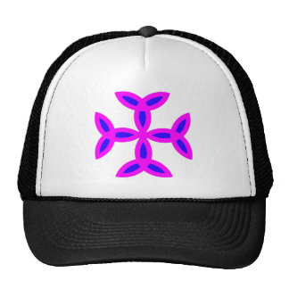Triquetra Cross in Lilac Pink Bold Blue Cap