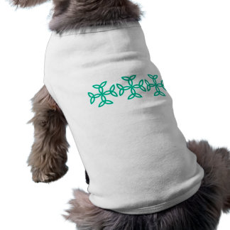 Triquetra Knotwork Crosses in Sage Bright Green Sleeveless Dog Shirt